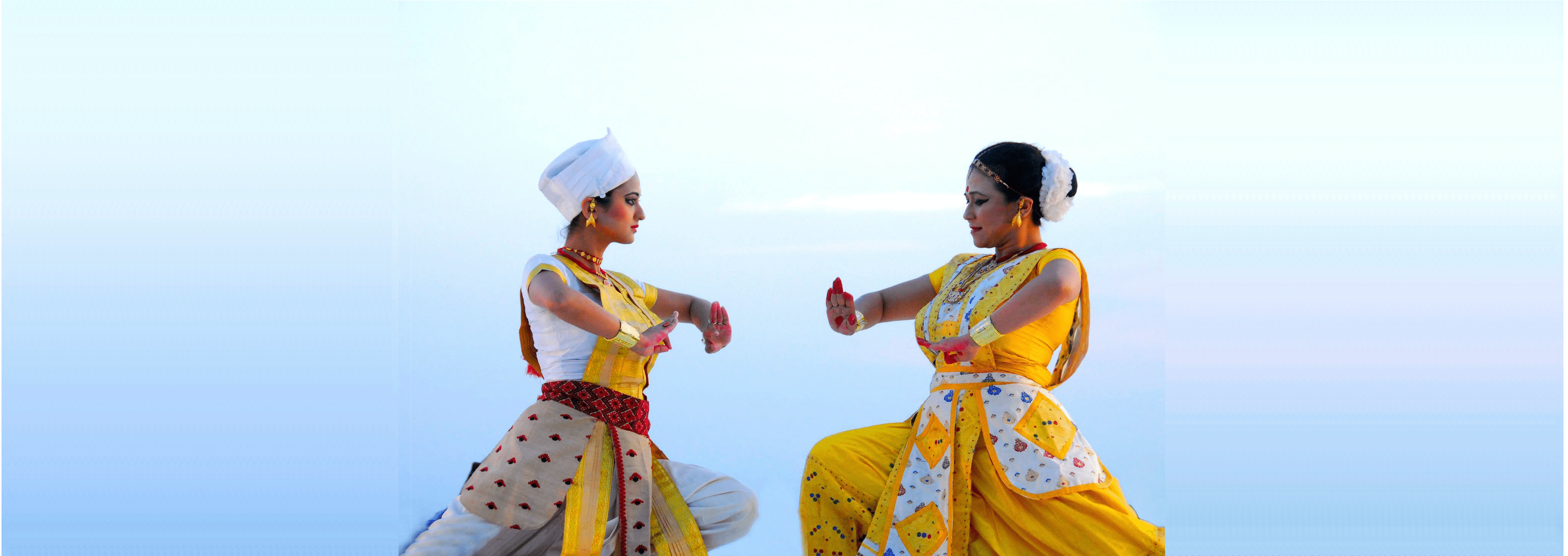 Madhusmita and Prerona performing Sattriya at Erasing Borders Dance Festival in New York